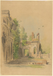 Ruins at Lucknow (U.P.). 23 February 1870